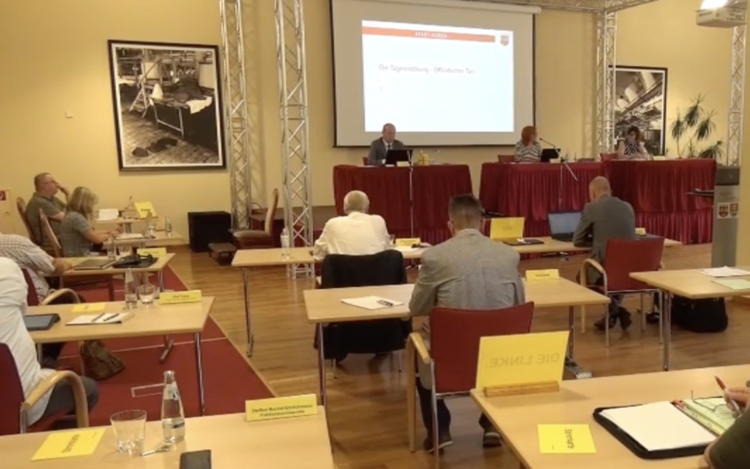 Bericht der AfD-Fraktion Guben zur 11. Sitzung der Stadtverordnetensitzung Guben