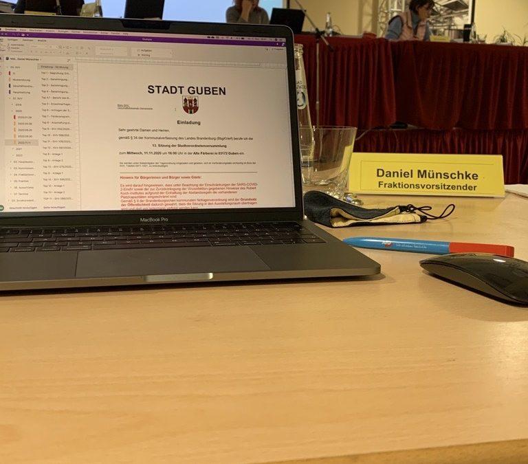 Bericht der AfD-Fraktion Guben zur 13. Sitzung der SVV